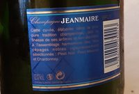 Champagne Jean Maire cuvée brute - Ingredients