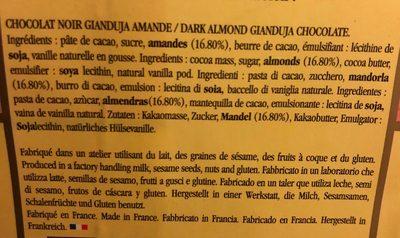 Gianduja amande noir - Ingrediënten