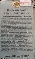boules de Noël - Ingredients
