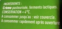 Crème de Bresse épaisse - Ingrédients - fr