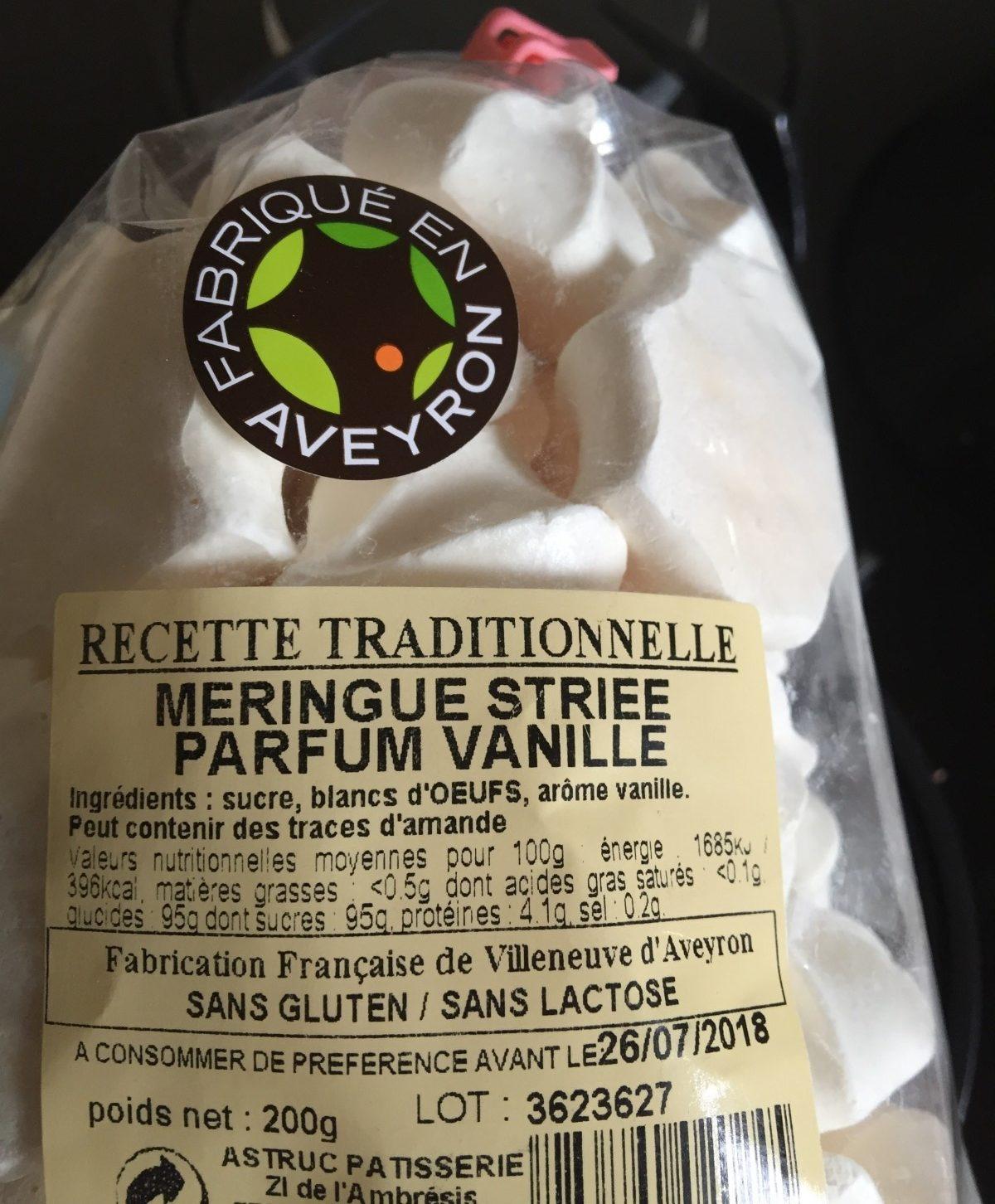 Meringue Striée Parfum Vanille - Produit - fr