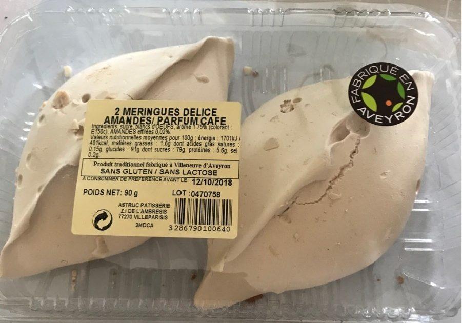 2 Meringues Délice Amandes / Parfum Café - Product - fr