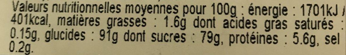 2 Meringues Délice Amandes / Parfum Café - Nutrition facts - fr