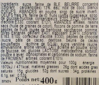 Mélange pâtissier, 400g - Ingrédients - fr