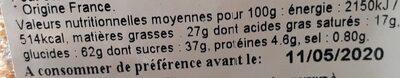 Assortiment de biscuits secs - Voedingswaarden - fr