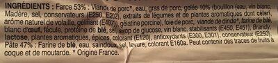 Mini Pâté En Croute - Ingrediënten - fr