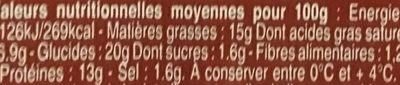 Pâté en croûte nature - Informations nutritionnelles - fr