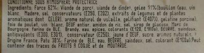3 Tranches de Pâté en Croûte Bressan - Ingrédients - fr