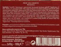 Pâté en croûte Richelieu - Voedigswaarden