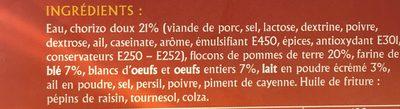 Tapas Chorizo - Ingredients
