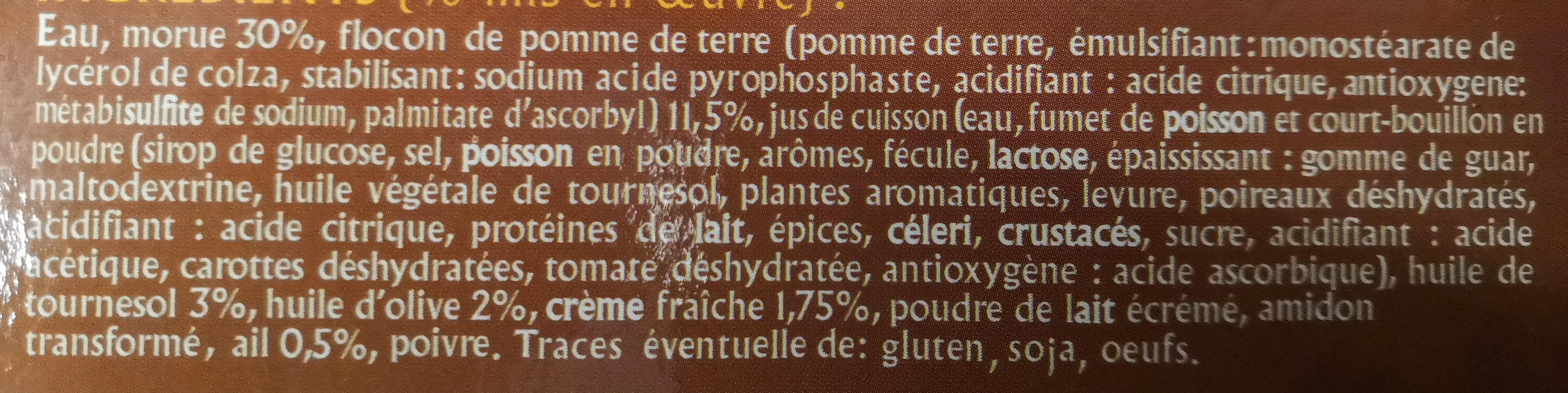 Brandade de Morue Parmentier - Ingredients