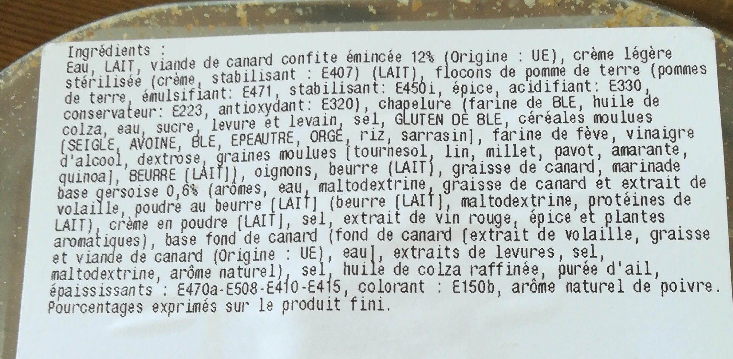 Parmentier de canard - Ingrediënten - fr