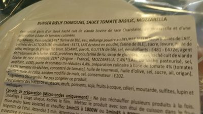 Burger bœuf Charolais - Ingredients - fr