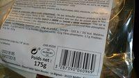 Burger bœuf Charolais - Nutrition facts - fr