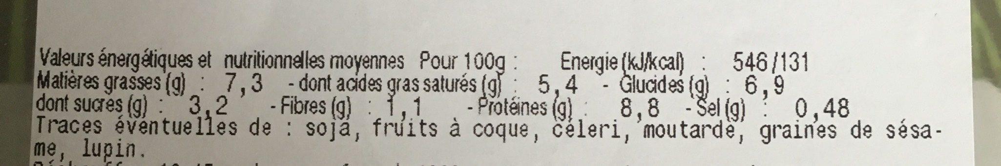 Gratin de Saint-Jacques et fruits de mer - Nutrition facts