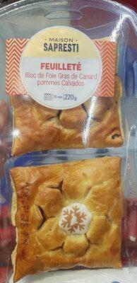 Feuilleté bloc de foie gras de canard, pommes Calvados - Product - fr