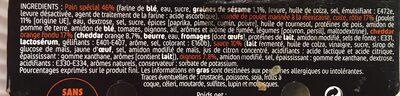Sapresti traiteur, Bagel poulet cheddar micro ondable, 150 gr - Ingrédients - fr