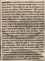 Bouchee ris de veau - Ingrediënten - fr