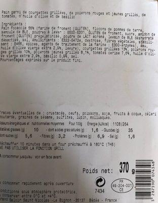 Sapresti Traiteur Focaccia - Product - fr