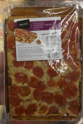 Focaccia Tomates Cerise, Oignons - Produit - fr