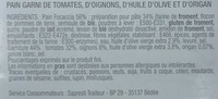 Focaccia Tomates Cerise, Oignons - Ingrédients - fr