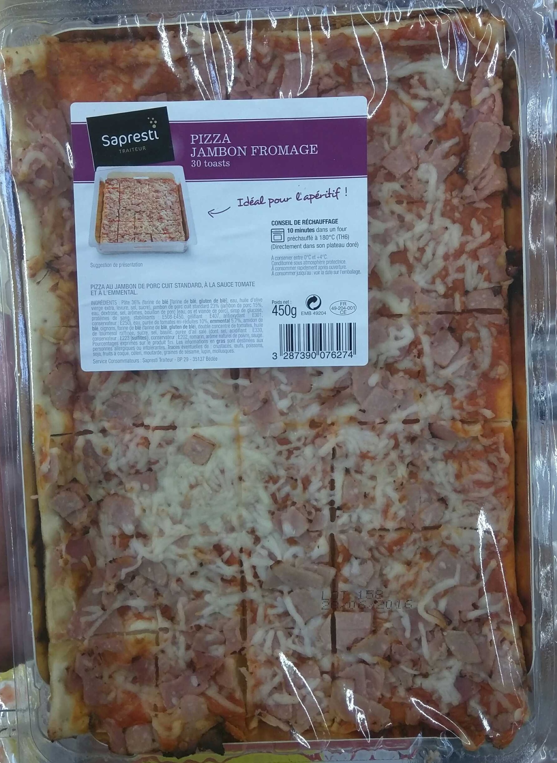 Pizza Jambon Fromage - Product - fr