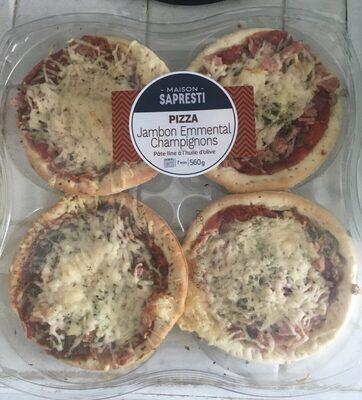Pizza Jambon Emmental Champignons - Produit - fr