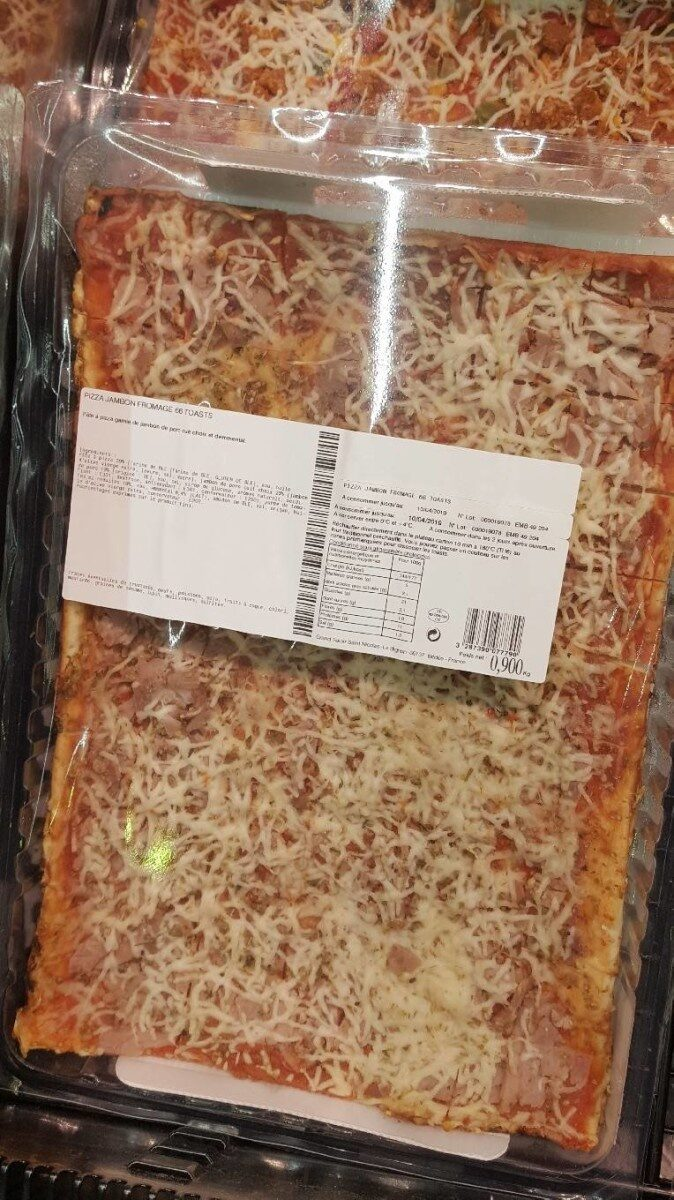 Pizza Jambon Fromage Toast - Product