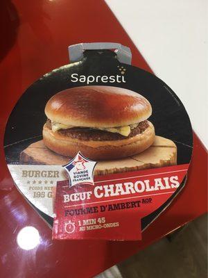 Burger boeuf charolais fourme d'Ambert - 1