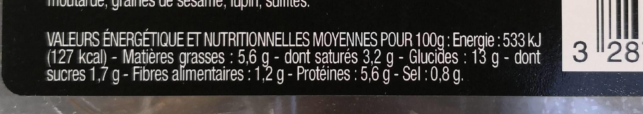 Coquille noix de saint Jacques - Nutrition facts - fr