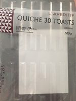 Quiche 30 toasts - Product - fr