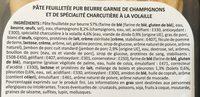 Tresse Forestiére - Ingredients - fr