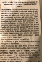 Bouchée langoustine crevette - Ingrediënten - fr