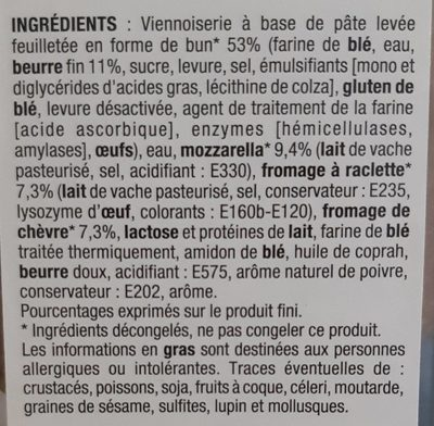 Bun Feuilleté - Ingredients - fr