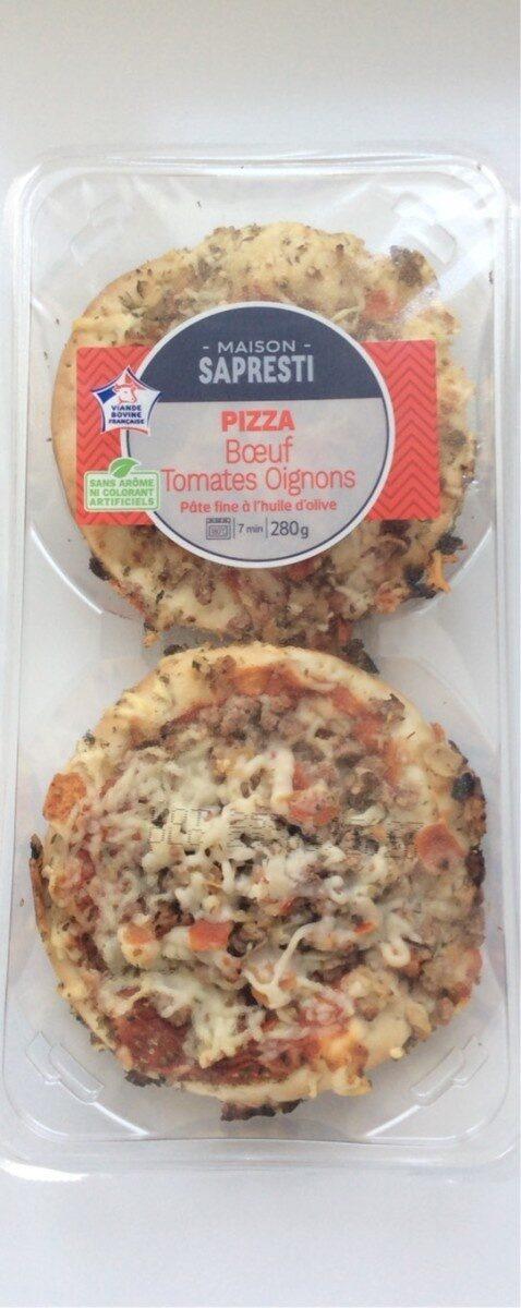 Pizza Boeuf Tomates Oignon - Produit - fr