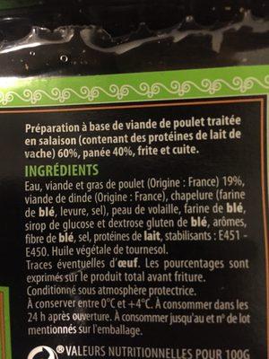 Nuggets de volaille - Ingrédients