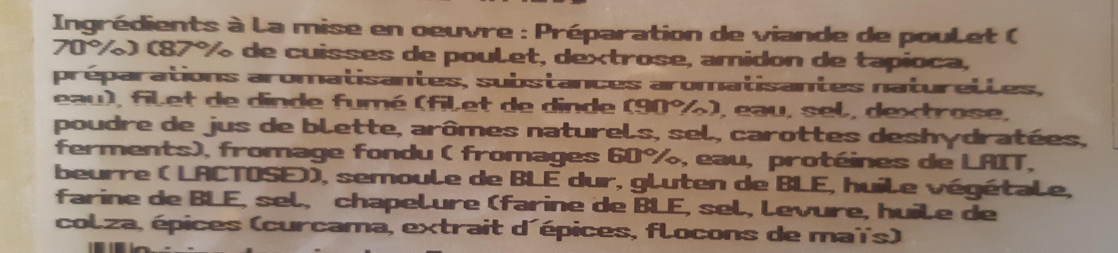 Le cordon bleu de poulet - Ingrédients - fr