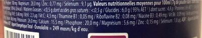Apurna Boisson Energie Gout Menthe - Informations nutritionnelles - fr