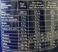 Pure Whey Isolat saveur Cacao - Informations nutritionnelles - fr