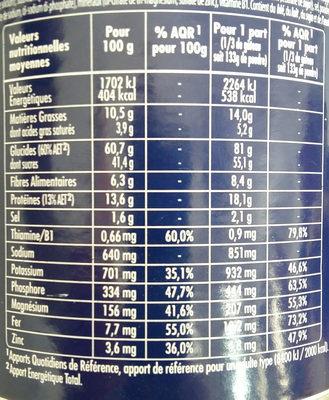 Apurna Gateau énergie 400G - Informations nutritionnelles - fr