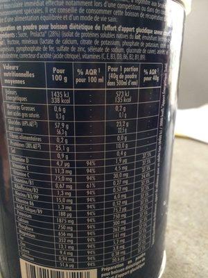 Boisson recuperation goût citron - Informations nutritionnelles - fr