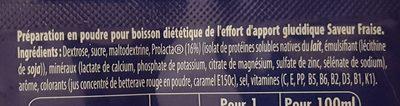 Boisson ENERGIE saveur FRAISE - Ingrédients - fr