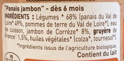Panais jambon de corrèze - Ingrediënten