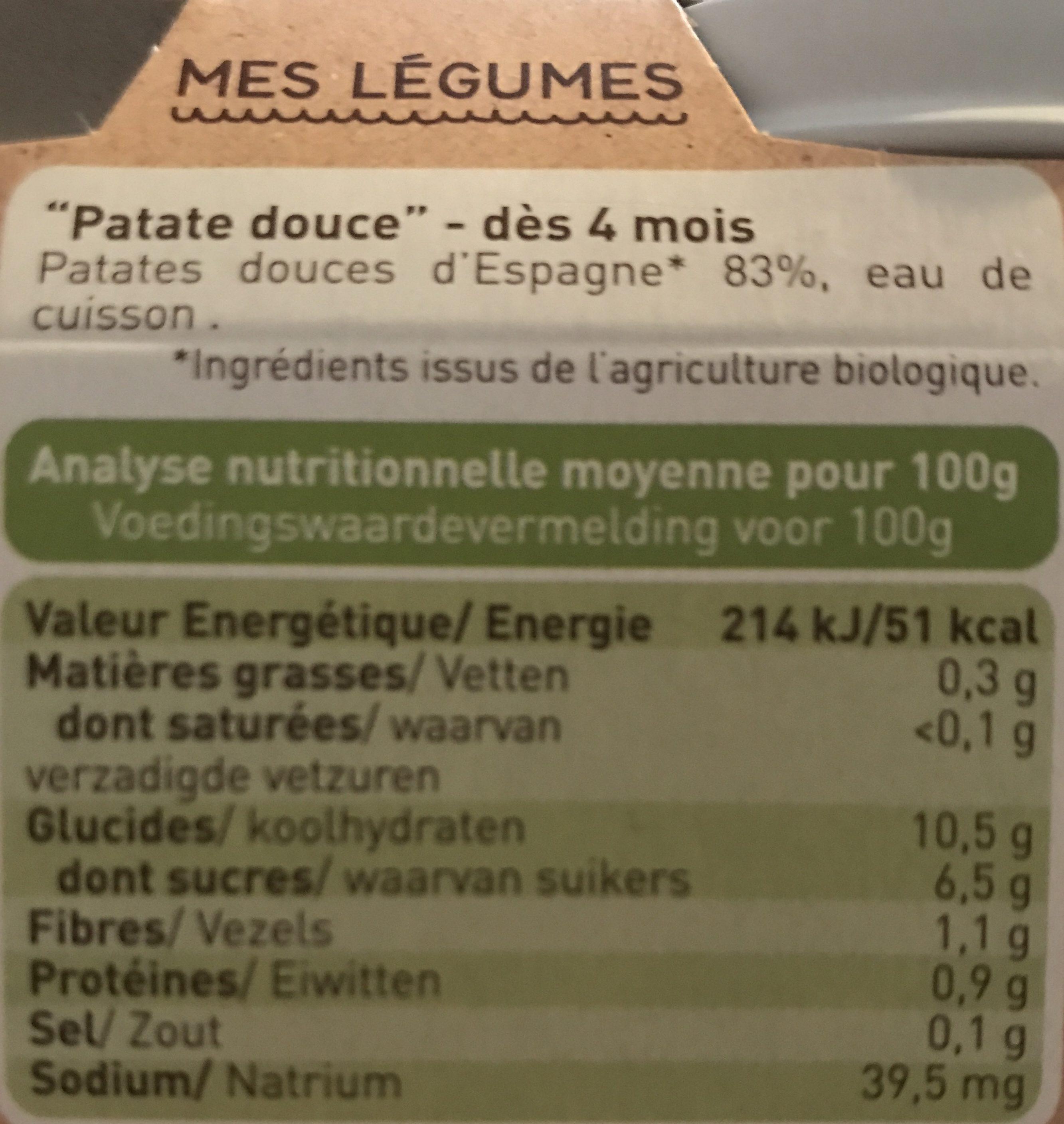 Babybio - Ingrediënten