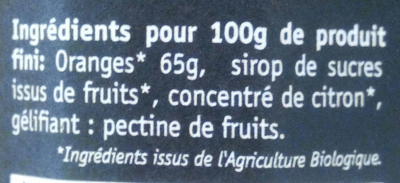 Orange délice de fruits bio - Ingrediënten