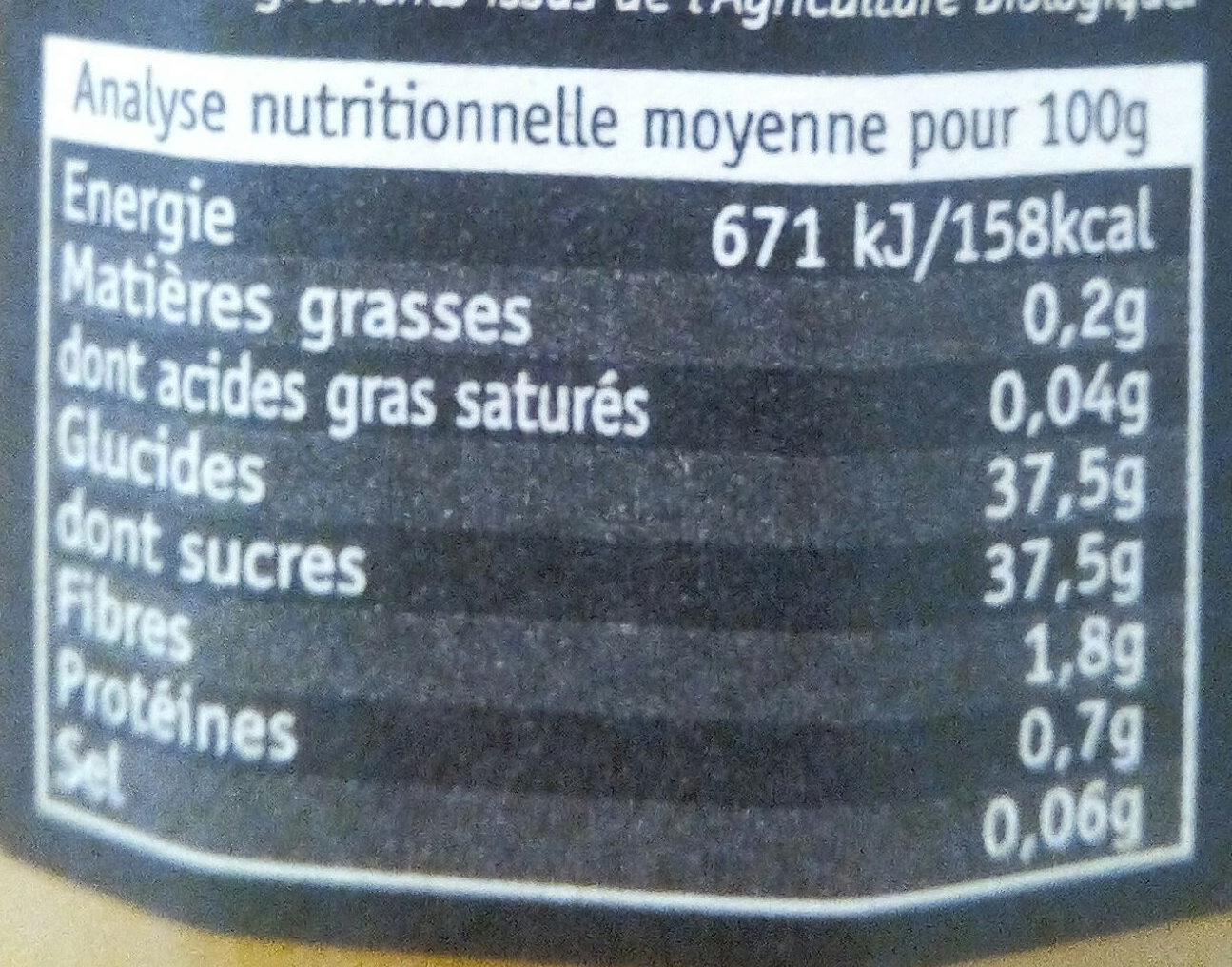 Orange délice de fruits bio - Voedigswaarden