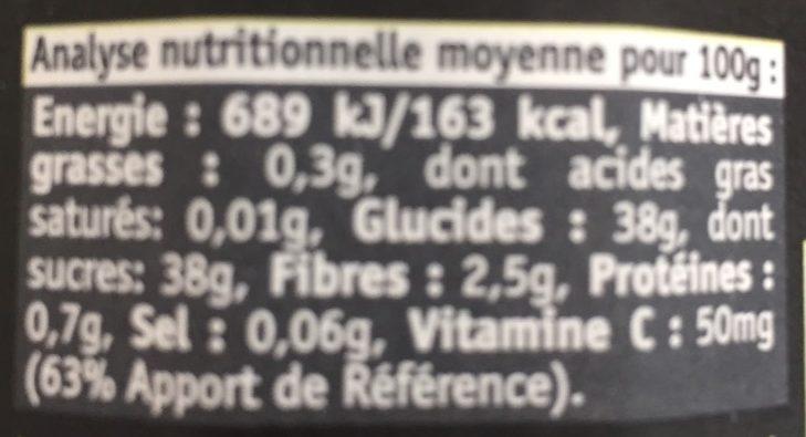Kiwi poire thé matcha - Información nutricional