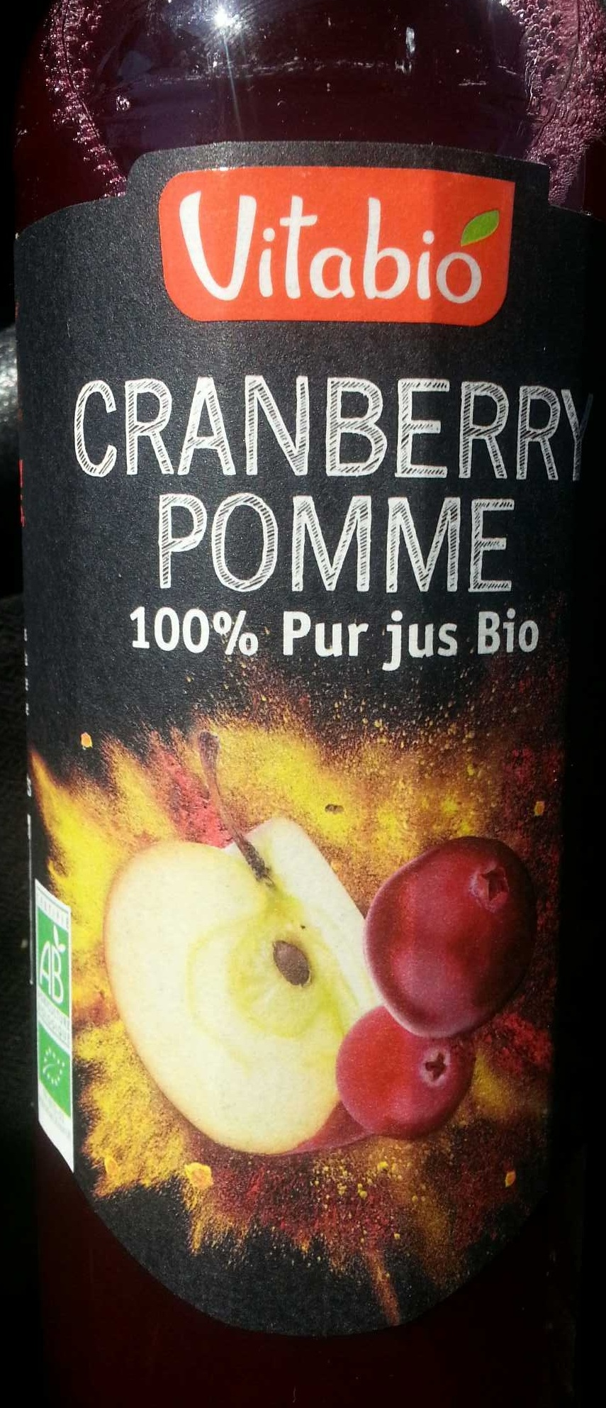 100% pur jus bio cranberry et pomme - Product