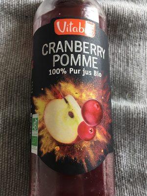 100% pur jus bio cranberry et pomme - Nutrition facts
