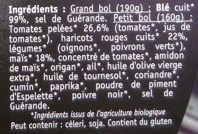 Tex-Mex haricots rouges & maïs - Ingrédients